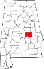 Map of Alabama showing Elmore County - Click on map for a greater detail.