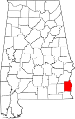 Map of Alabama showing Henry County - Click on map for a greater detail.