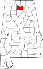 Map of Alabama showing Morgan County - Click on map for a greater detail.