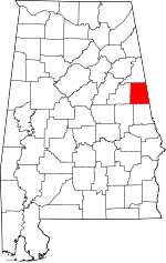Map of Alabama showing Randolph County - Click on map for a greater detail.