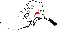 Map of Alaska showing Denali Borough - Click on map for a greater detail.