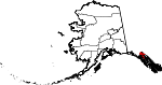 Map of Alaska showing Haines Borough - Click on map for a greater detail.