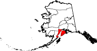 Map of Alaska showing Kenai Peninsula Borough - Click on map for a greater detail.