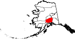 Map of Alaska showing Matanuska-Susitna Borough - Click on map for a greater detail.
