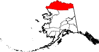 Map of Alaska showing North Slope Borough - Click on map for a greater detail.