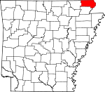 Map of Arkansas showing Clay County - Click on map for a greater detail.