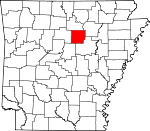 Map of Arkansas showing Cleburne County - Click on map for a greater detail.