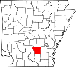 Map of Arkansas showing Cleveland County - Click on map for a greater detail.