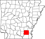 Map of Arkansas showing Drew County - Click on map for a greater detail.