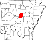 Map of Arkansas showing Faulkner County - Click on map for a greater detail.