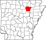 Map of Arkansas showing Independence County - Click on map for a greater detail.