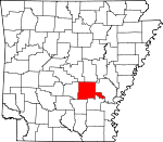 Map of Arkansas showing Jefferson County - Click on map for a greater detail.