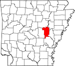 Map of Arkansas showing Prairie County - Click on map for a greater detail.