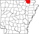 Map of Arkansas showing Randolph County - Click on map for a greater detail.