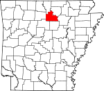 Map of Arkansas showing Stone County - Click on map for a greater detail.