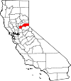 Map of California showing Placer County - Click on map for a greater detail.
