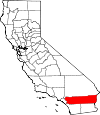 Map of California showing Riverside County - Click on map for a greater detail.