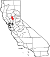 Map of California showing Sutter County - Click on map for a greater detail.