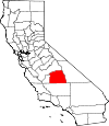 Map of California showing Tulare County - Click on map for a greater detail.