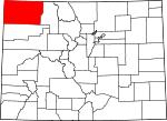 Map of Colorado showing Moffat County - Click on map for a greater detail.