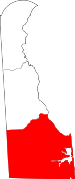 Map of Delaware showing Sussex County - Click on map for a greater detail.
