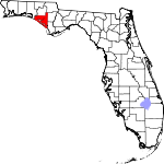 Map of Florida showing Bay County - Click on map for a greater detail.