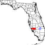 Map of Florida showing Charlotte County - Click on map for a greater detail.