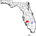 Map of Florida showing Desoto County - Click on map for a greater detail.