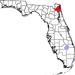 Map of Florida showing Duval County - Click on map for a greater detail.