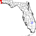 Map of Florida showing Escambia County - Click on map for a greater detail.