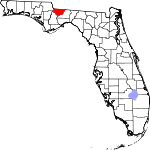 Map of Florida showing Gadsden County - Click on map for a greater detail.