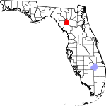Map of Florida showing Gilchrist County - Click on map for a greater detail.