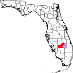 Map of Florida showing Glades County - Click on map for a greater detail.