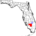 Map of Florida showing Hendry County - Click on map for a greater detail.