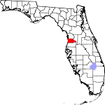 Map of Florida showing Hernando County - Click on map for a greater detail.