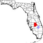 Map of Florida showing Highlands County - Click on map for a greater detail.