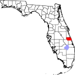 Map of Florida showing Indian River County - Click on map for a greater detail.