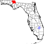 Map of Florida showing Jackson County - Click on map for a greater detail.