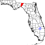 Map of Florida showing Jefferson County - Click on map for a greater detail.
