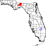 Map of Florida showing Leon County - Click on map for a greater detail.