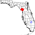 Map of Florida showing Levy County - Click on map for a greater detail.
