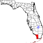 Map of Florida showing Monroe County - Click on map for a greater detail.