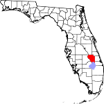 Map of Florida showing Okeechobee County - Click on map for a greater detail.