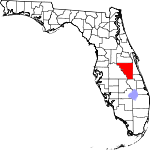 Map of Florida showing Osceola County - Click on map for a greater detail.