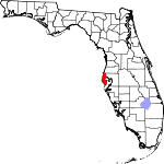 Map of Florida showing Pinellas County - Click on map for a greater detail.