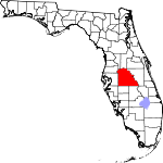 Map of Florida showing Polk County - Click on map for a greater detail.