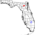 Map of Florida showing Union County - Click on map for a greater detail.