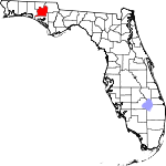 Map of Florida showing Washington County - Click on map for a greater detail.