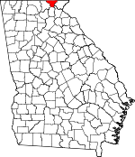 Map of Georgia showing Towns County - Click on map for a greater detail.