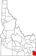 Map of Idaho showing Bear Lake County - Click on map for a greater detail.